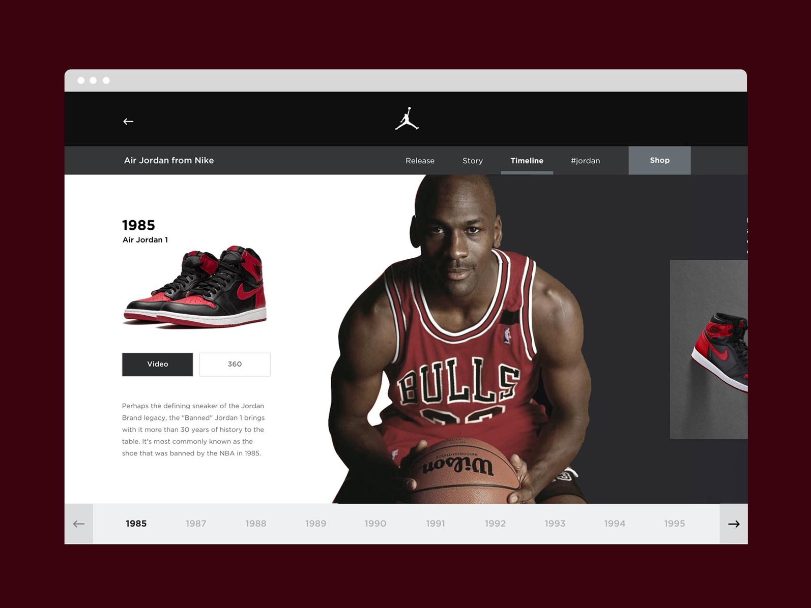 more photos 54705 fa1e9 Nike Jordan Timeline