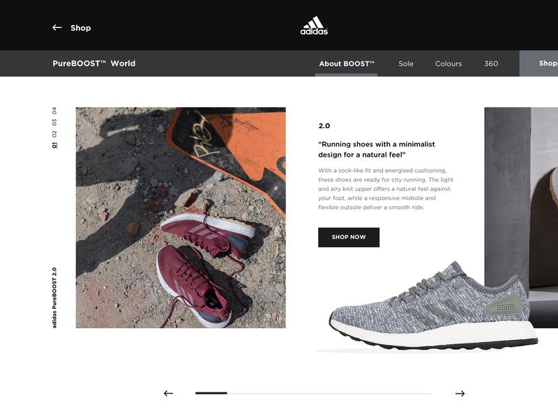 Adidas Boost Website