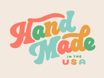 Hand Made in the USA Lettering type procreate handlettering lettering typography