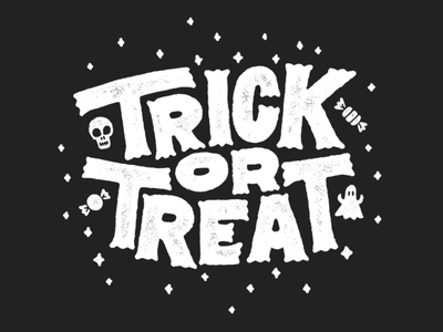 Trick or Treat Lettering halloween procreate typography type lettering handlettering