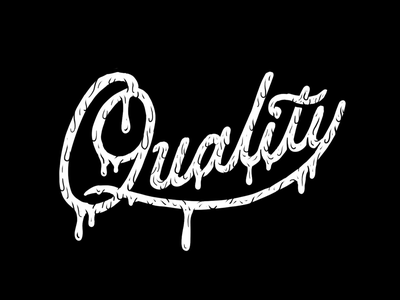 Quality Lettering quality dripping script handlettering typography lettering