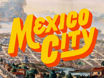 Mexico City vintage title travel mexico city mexico handlettering typography lettering
