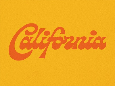 California Lettering type script handlettering lettering typography