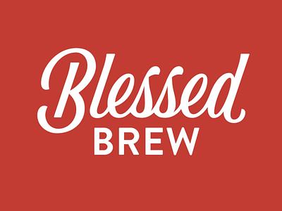 Blessed Brew Kombucha Logo identity branding logo script handlettering lettering type typography