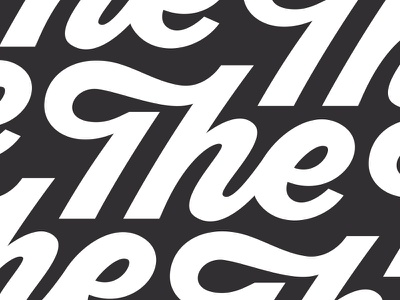 The cursive the vector script typography type handlettering lettering