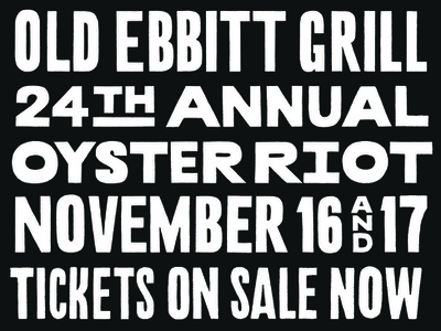Oyster Riot 2018 print procreate condensed sanserif handlettering event poster food oyster type typography lettering