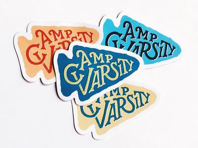 Camp Varsity Stickers handlettering lettering logo sticker