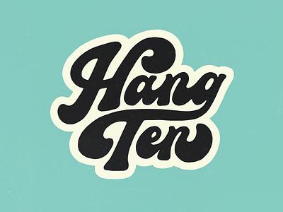 🏄♂️ logo funky 70s surfing procreate design script handlettering type typography lettering