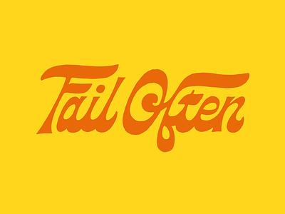 Fail Often vintage loren 70s funky type design procreate branding logo script handlettering lettering typography