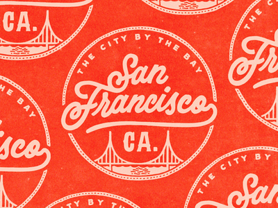 San Francisco travel branding illustration script type typography procreate handlettering shirt logo lettering sf