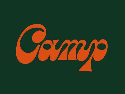 Camp Lettering procreate type script logo handlettering typography 70s funky camp lettering