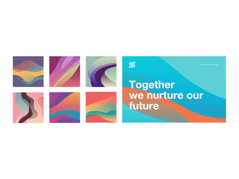 Flow graphics design future gentle line
