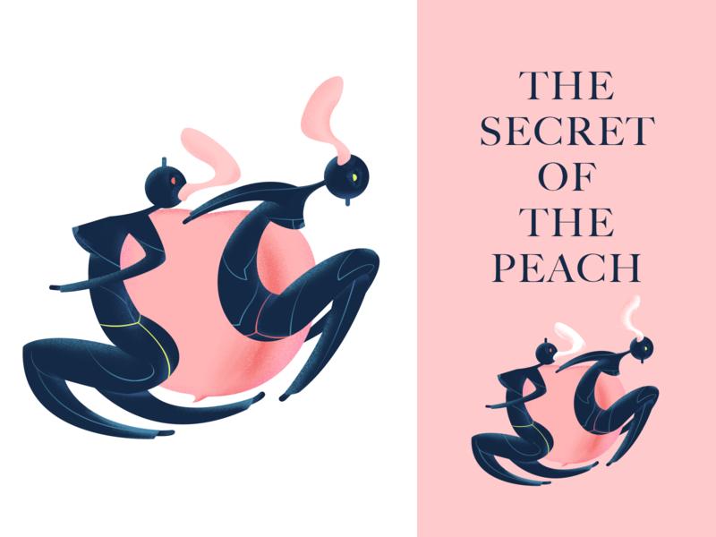 Peach secret weird elves dance deformation secret peach illustrations