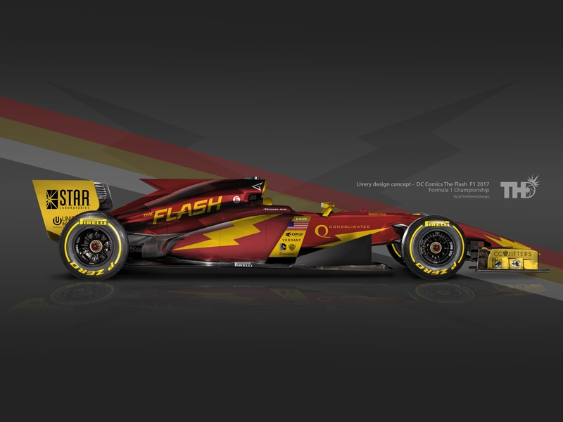 """The Flash """"Barry Allen"""" F1 2017 Concept by Tim Holmes on Dribbble"""