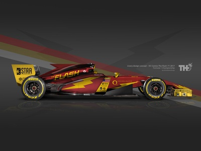 "The Flash ""Barry Allen"" F1 2017 Concept"