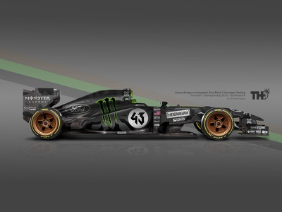 "2015 Ken Block RTR F1 ""Hoonicorn"" formula 1 hoonigan racing cars automotive concept livery motorsport f1"