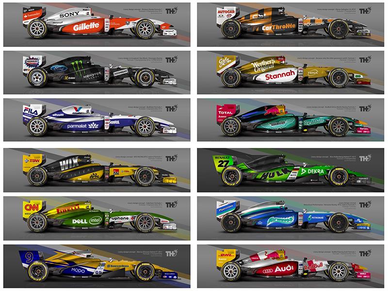 Random F1 Livery Concepts By Tim Holmes Dribbble Dribbble