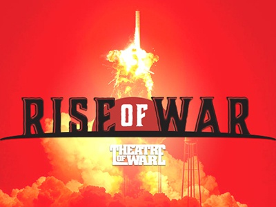 Rise of War vector poster branding typography fictional company logo