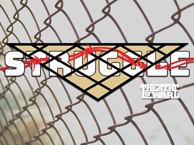 Struggle vector poster branding typography fictional company logo