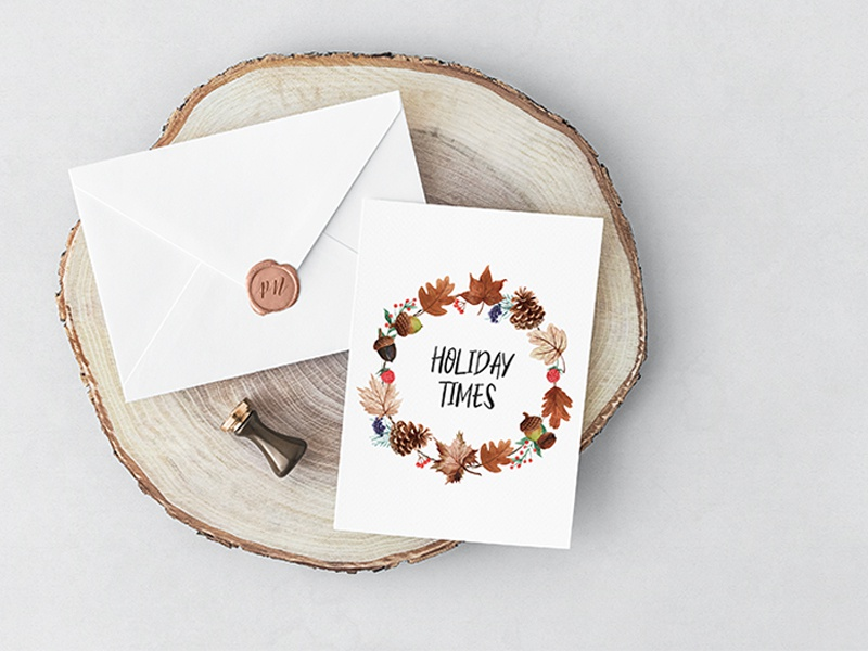 Holiday Times Bribble illustration design vector flower cover book card flora print design typography season autumn banner ad card art banner card design invitation design invitation card flowers watercolour illustration