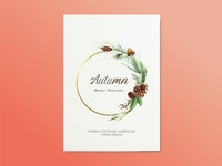 Autumn Invitation Card Design