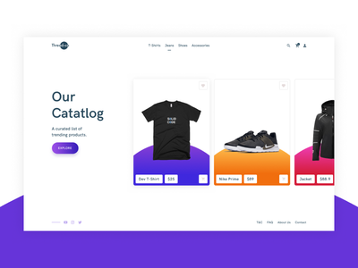 ThreadCo - Apparel Website ecommerce shopping card slider website
