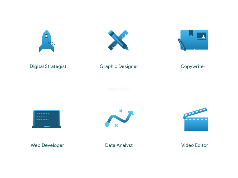 Digital Icons Illustrations figma gradient illustrations digital icons