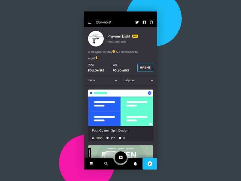 Codepen App codepen typography app ui code design