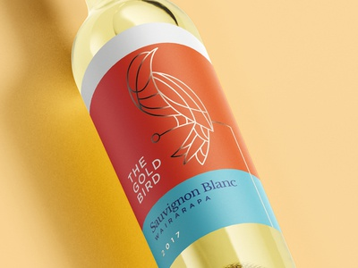 The Gold Bird Wine Label
