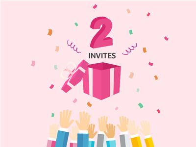 2 Dribbble invites, 2 Invitations