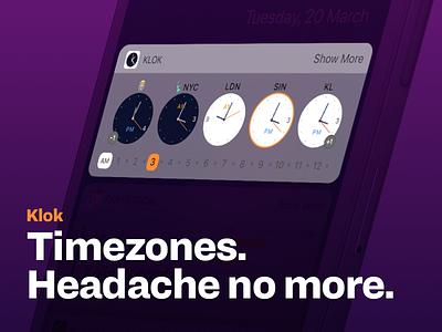 Klok update teaser time zone clock app ux ui ios