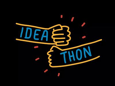Ideathon hack day workshop illustration hackathon brainstorm