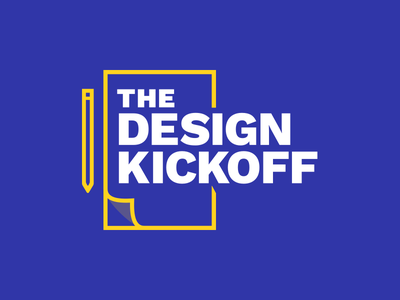 The Design Kickoff Logo design ringside branding logo