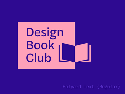 Design Book Club logo (one more!) typography logo