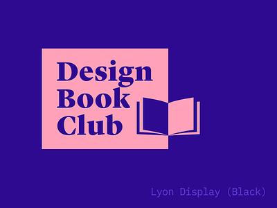 Design Book Club logo (almost …) book club typography logo