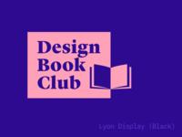 Design Book Club logo (almost …)