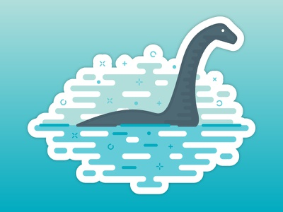 Nessie the Loch Ness Monster sticker mule loch ness nessie magic sticker monster