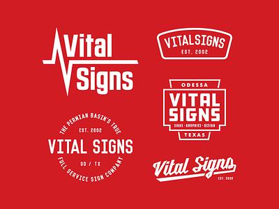 Vital Signs vital signs signs apparel branding logo