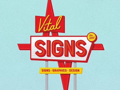 Vintage Sign Design for Vital Signs branding type retro sign vintage