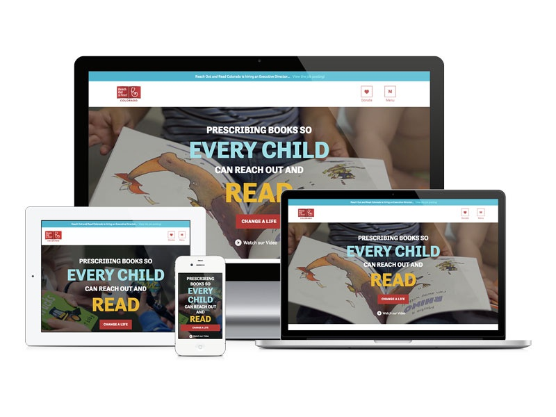 Reach Out and Read Colorado Website Redesign nonprofit website mobile responsive mobile first website wordpress nonprofit civicrm