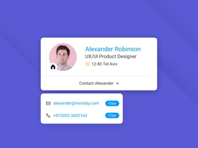 Person Card contact card person