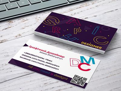 Visit card visit card typography graphic design
