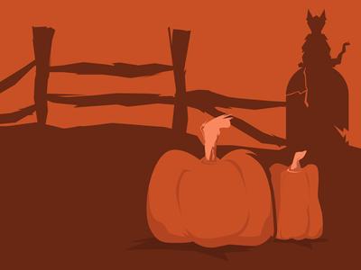 Halloween scene WIP