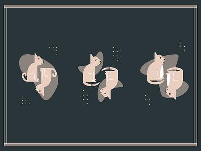 Trio of Kittens design hikuu vector illustration hi-kuu kuuhubbard