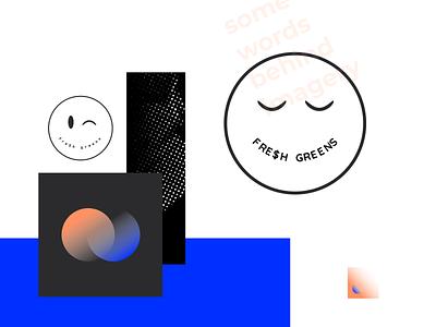 Fre$h greens moodboard texture smiley design hikuu vector hi-kuu illustration kuuhubbard