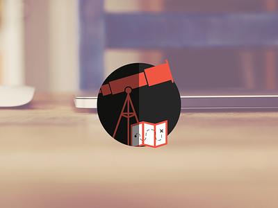 Kreate Explore Icon hi-kuu kuuhubbard kreate vector illustration icon explore