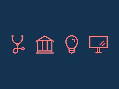 Industry Icons reward laborday matchup kuuhubbard hikuu design icon illustration vector