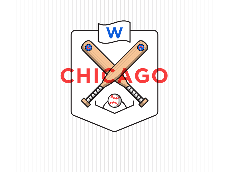 Go Cubs Go! illustration vector hi-kuu kuuhubbard fly the w baseball world series chicago cubs cubbies cubs