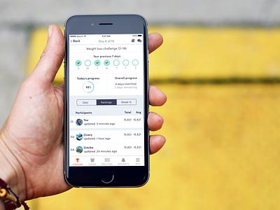 Streak mode UI stridekick kuuhubbard hikuu mobile iphone app fitness challenge challenge mode streak ux ui