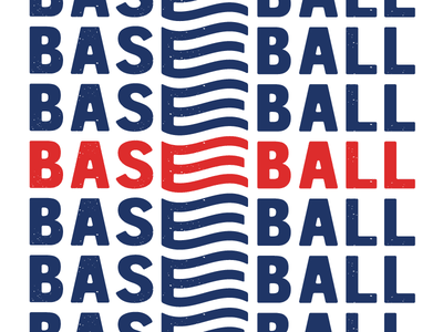 Baseeeeball league mono texture typography type baseball